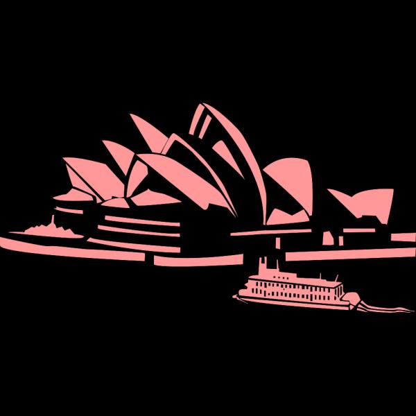 Sydney Opera House Blue Silhouette PNG Clip art