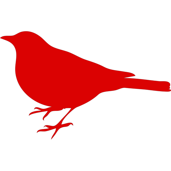 Red Bird Profile PNG Clip art