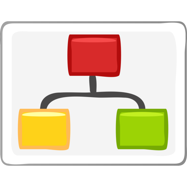 Block Diagram Visio Hierarchy Clip Art PNG icon