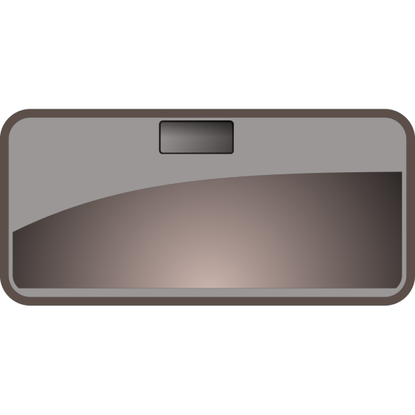 Steren Glossy Rectangle Black PNG Clip art