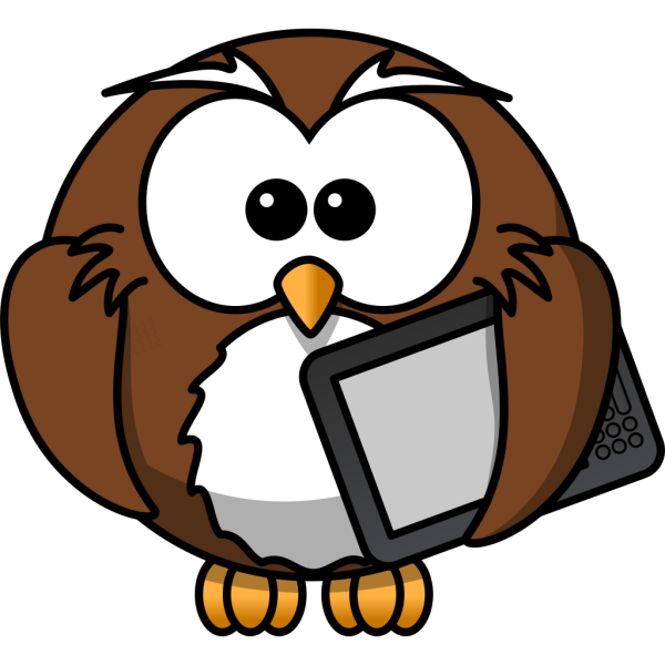 Owl With Tablet PNG images