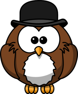 Owl With Hat PNG Clip art