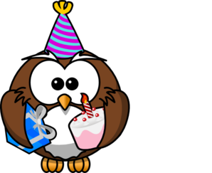 Owl Celebrating PNG images
