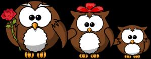 Owl Family Clip art