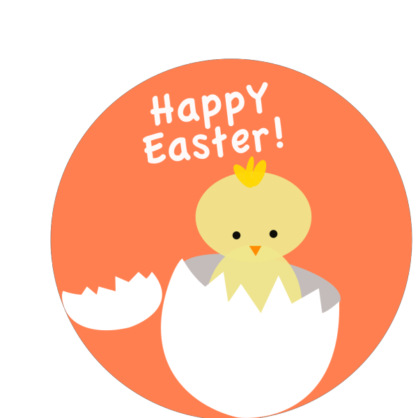 Easter Chick Hatching PNG Clip art