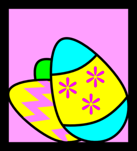 Spring With Easter Eggs And Bird PNG images