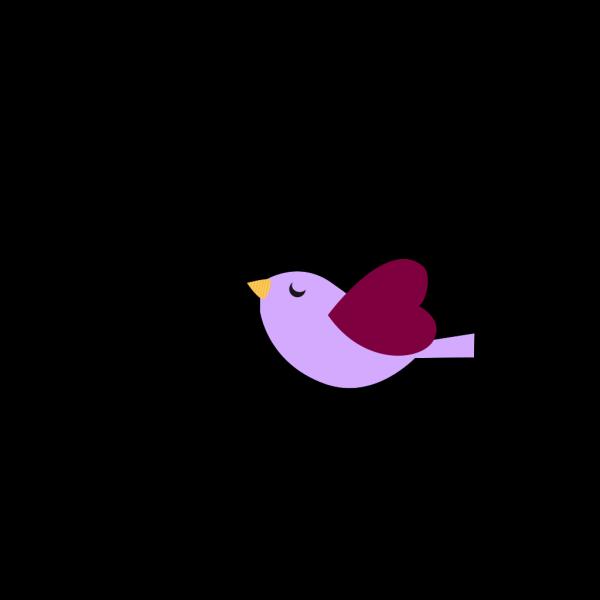 Purple Bird  PNG Clip art
