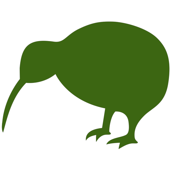 Green Kiwi Bird PNG images