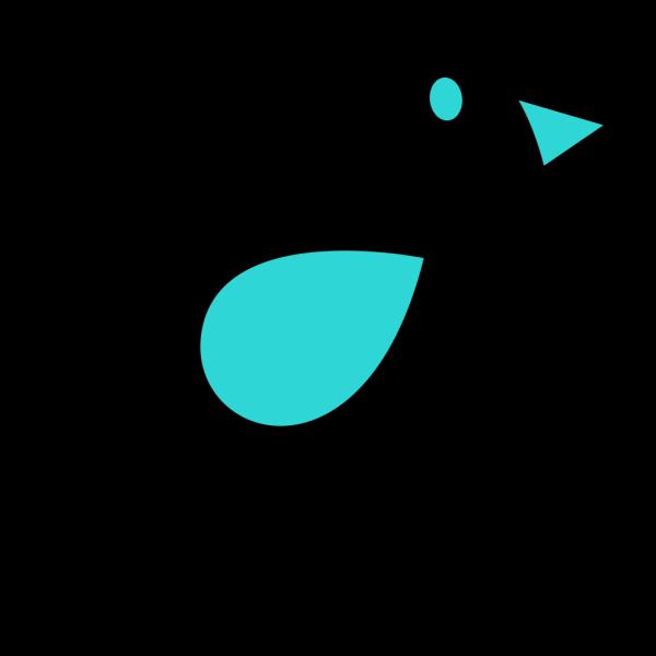 Teal & Black Birdie PNG images