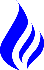 Blue Flame Simple PNG Clip art