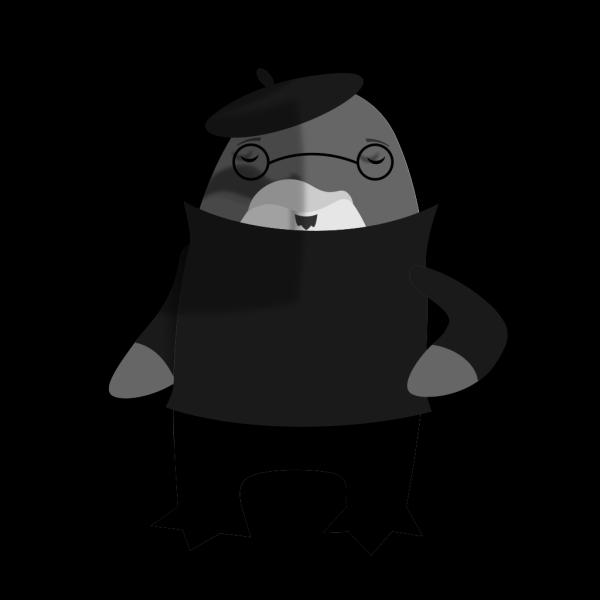 Artist Penguin PNG Clip art