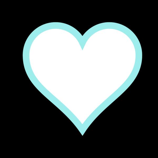 Pale Blue Heart PNG Clip art