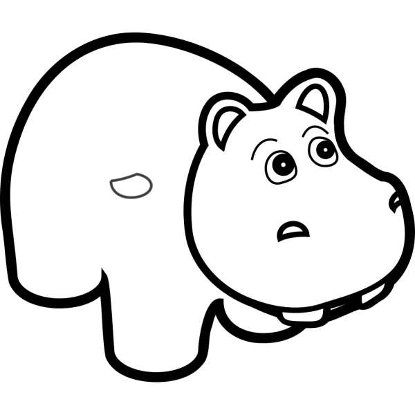 Hippo Outline PNG Clip art