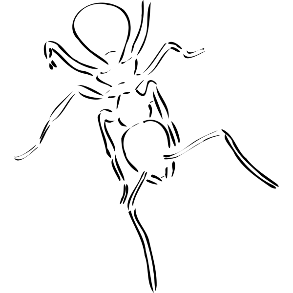 Ant Outline PNG Clip art