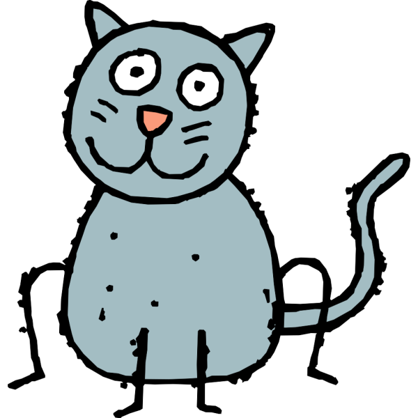 Dirty Cartoon Cat PNG Clip art