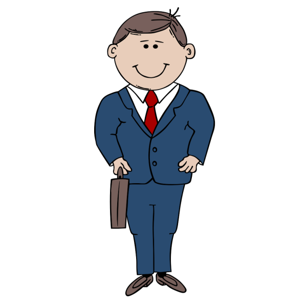 Big Man in a Suit PNG Clip art
