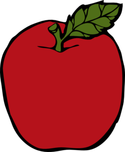 Peach Apple PNG image
