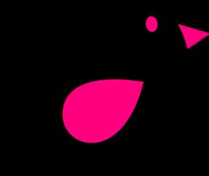 Baby Pink & Black Birdie PNG Clip art