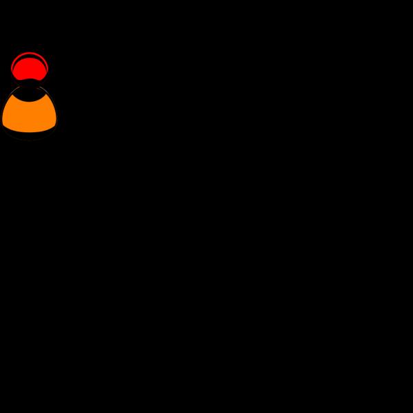 Orange & Black Birdie PNG Clip art