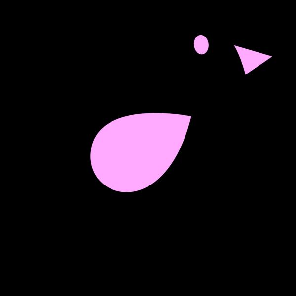 Lilac & Black Birdie PNG images