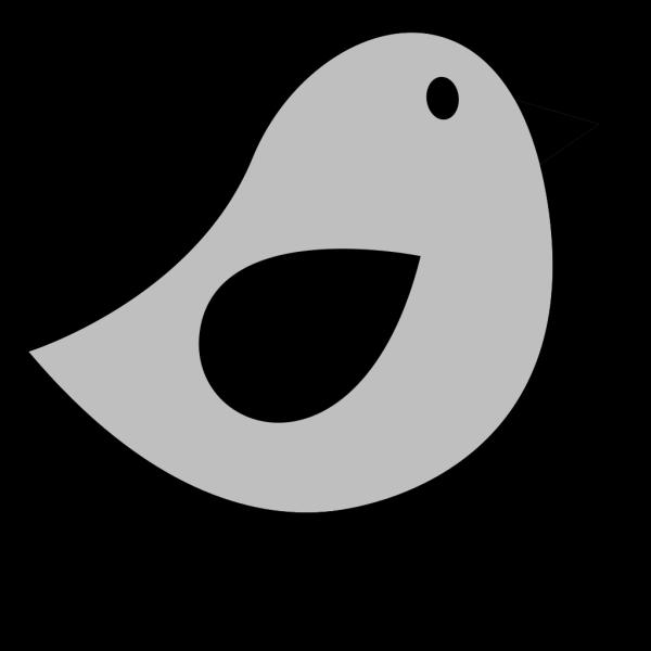 Grey & Black Birdie PNG Clip art