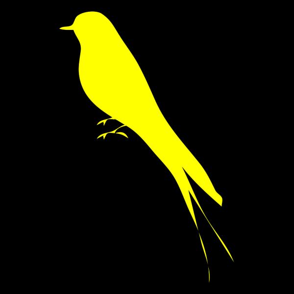 Black & Baby Yellow Birdie PNG Clip art