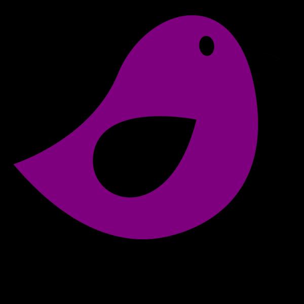 Black & Eggplant Birdie PNG images