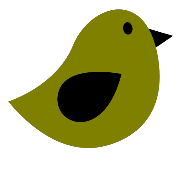 Black & Olive Birdie PNG Clip art