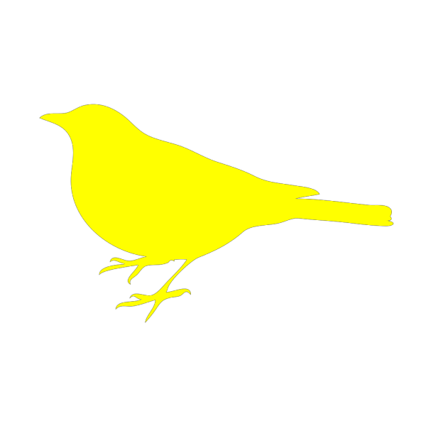 Little Yellow Bird Reversed PNG Clip art