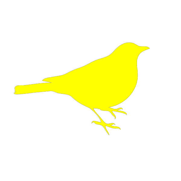 Pink And Yellow Birdie PNG Clip art