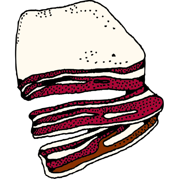 Bacon (b And W) PNG Clip art