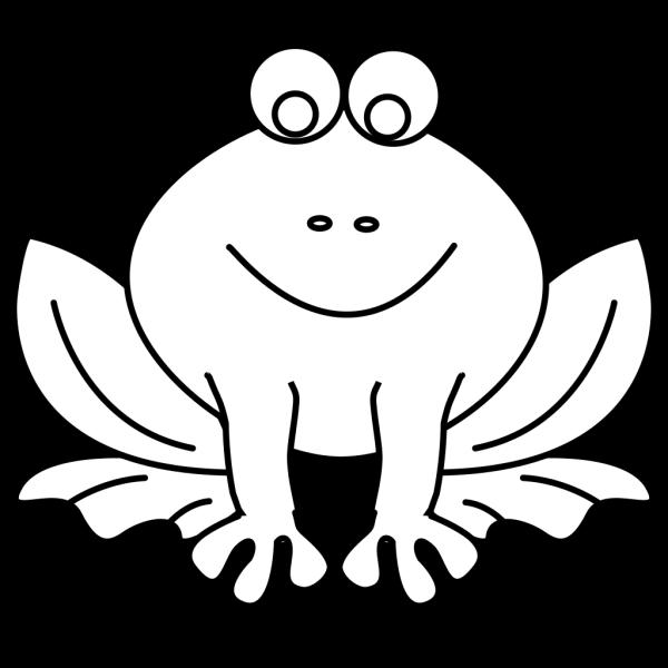 Frog Outline PNG Clip art
