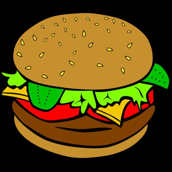 Hamburger (b And W) PNG Clip art