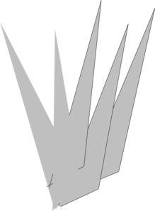 Cross Spikes PNG Clip art