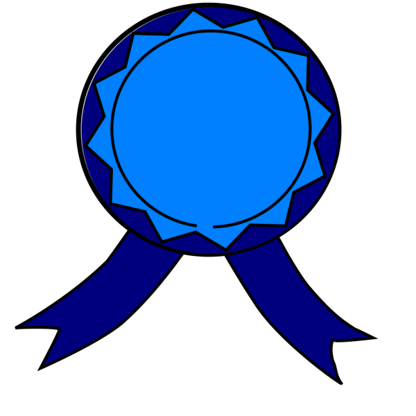 Blue Medal PNG Clip art