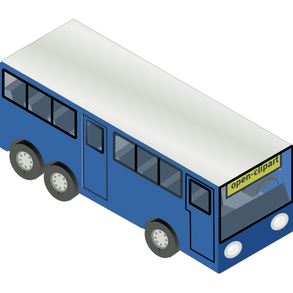 Blue Bus PNG Clip art