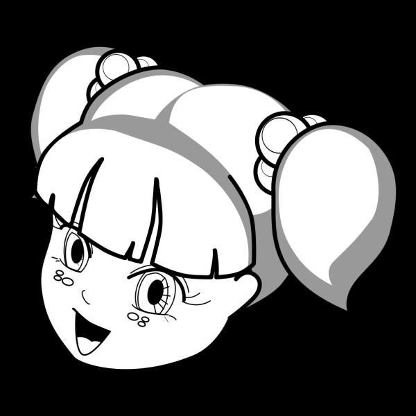 Anime Girl Outline PNG Clip art