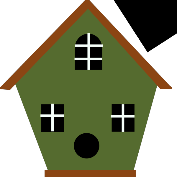 Green Bird House PNG Clip art