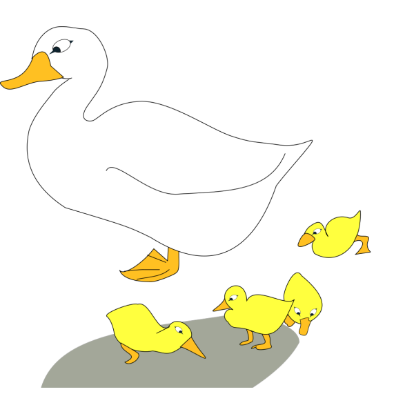 Goose With Gosling PNG images