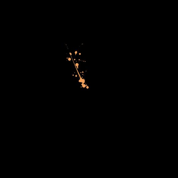 Light Orange Twitter Bird Icon PNG Clip art
