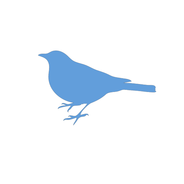 Bird Silhouette Blue