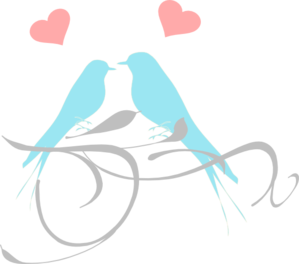 Birds On A Branch Blue And Pink PNG Clip art