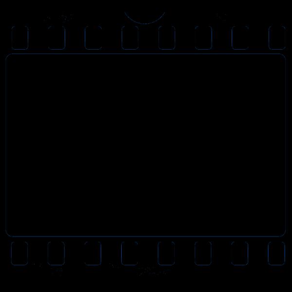 Blue Film Frame PNG images