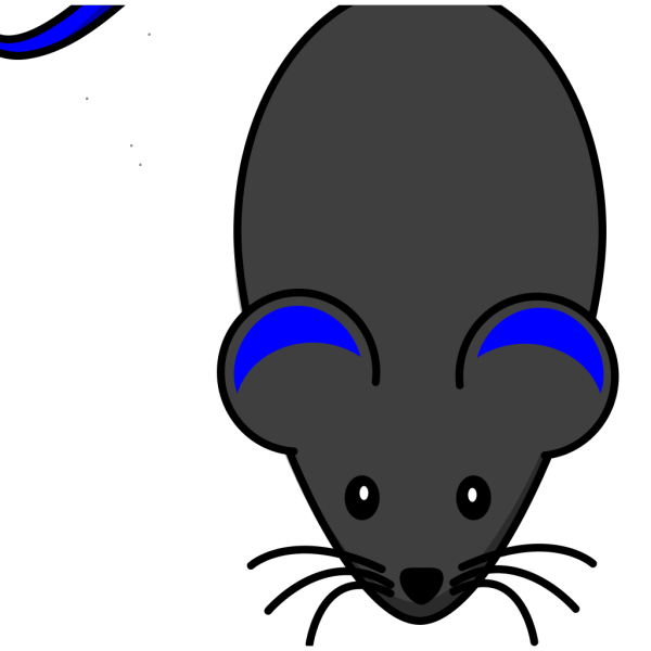 Mouse With Blue Tail PNG images