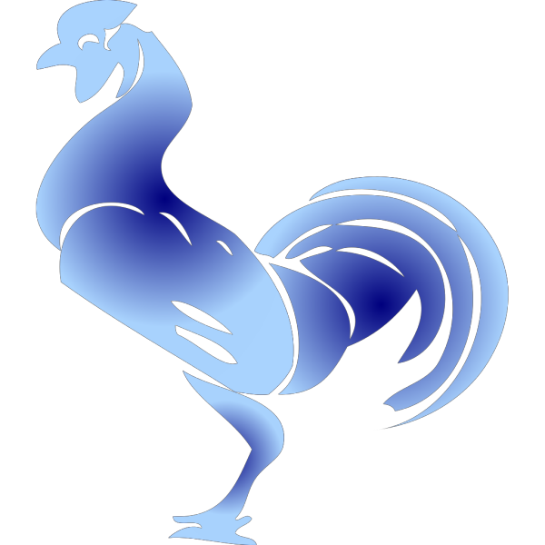 Blue Rooster Stencil PNG images