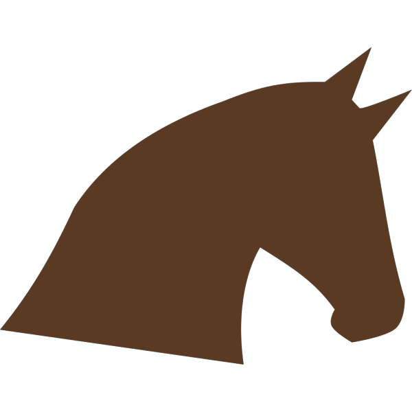 Horse Head Silhouette PNG Clip art