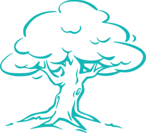 Dark Blue Oak Tree PNG Clip art