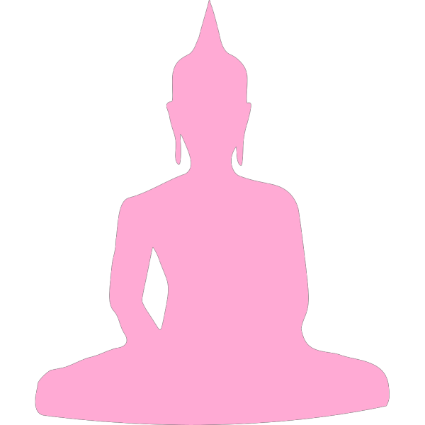 Pink Buddha 2 PNG Clip art