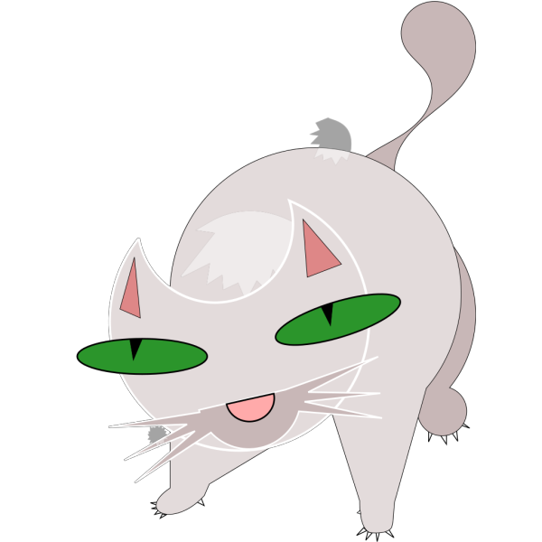 Scary Cat PNG Clip art
