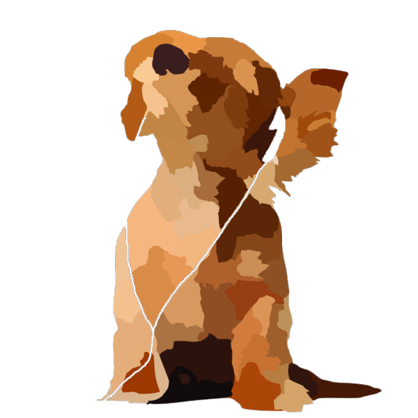 Tom Waiting Dog Lineart PNG images
